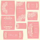 Set of wedding invitation cards — Stock Photo