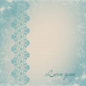 Cartão com sem costura vintage floral fronteira oriental. — Foto Stock