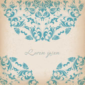Round lace card — Stockfoto
