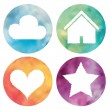 Watercolor buttons set. — Stock Photo #29985747