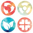 Watercolor buttons set. — Stock Photo