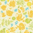 Seamless tea pattern — Stock Photo