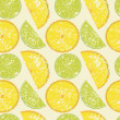 Seamless lemon pattern — Stock Photo