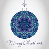 メリー クリスマスのグリーティング カード — ストック写真
