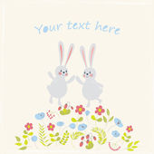 Card with rabbits — Stock Photo