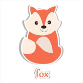 Cartoon fox — Stockfoto