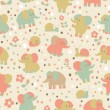 Stock Photo: Elephant and snailseamless pattern.
