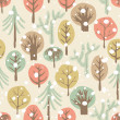 Forest seamless pattern — Stock Photo