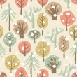 Forest seamless pattern — 图库照片