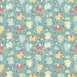 Elephant and snailseamless pattern. — Stock Photo