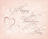 Happy valentine's day card. Vintage background with floral elem — Stock Photo