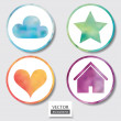 Watercolor buttons set. — Stock Photo #39608547