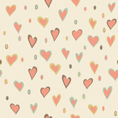 Cartoon hearts and circles seamless pattern — Stock Photo