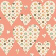 Cartoon hearts and circles seamless pattern. Valentines day card — Stock Photo #39611867
