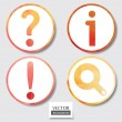 Stock Photo: Set of four icons. Web and mobile apps circle watercolor button.