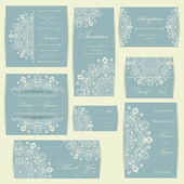 Wedding invitation cards set — Stockfoto