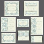 Wedding invitation cards set — Stock Photo