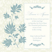 Wedding invitation card — Stock Photo