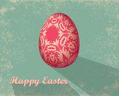 Tarjeta de pascua con huevo — Foto de Stock