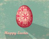 Kartka wielkanocna z jajkiem — Zdjęcie stockowe
