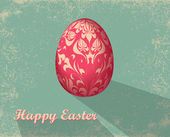 Easter card with egg — Foto de Stock