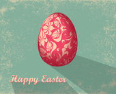 Easter card with egg — Stock Photo