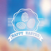 Blured background.  Easter vintage label. — Stock Photo
