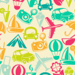 Traveling seamless pattern — Stock Photo #45707001