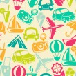 Traveling seamless pattern — Stock Photo