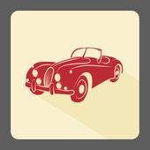 Retro car icon — Stock Photo