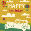 Happy birthday card — Stock Photo #51687277