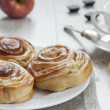 Apple cinnamon buns — Stock Photo