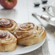 Stock Photo: Apple cinnamon buns