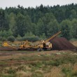 Stock Photo: Peat extraction, southern Bohemia