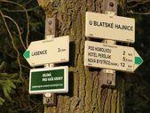 Tourist signposting , southern Bohemia — Stock Photo