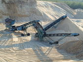 Extraction of sand — Foto de Stock
