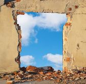Hole in the Wall — Stock Photo