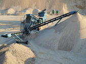 Extraction of sand — Stock Photo