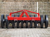 Tillage machine - ramming silage — Stock Photo