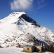 Shelter with snow near Anboto mountain — Stock Photo #22193865