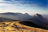 Urkiola mountains with last rays of sun — Foto Stock