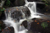 Water stream flowing between rocks — Stock Photo