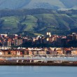 Stock Photo: View of Getxo and Portugalete village with promenade