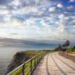 Stroll in getxo near sea — Stock Photo