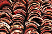 Stack of roof tiles — Stock Photo
