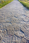 Pathway with paving stones — Stock Photo