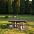 Picnic tables — Stockfoto