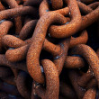 Metallic and rusty chains — Stock Photo