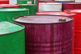 Industrial drums and barrells — Stock Photo