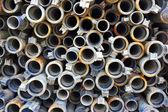 Metallic pipes — Stock Photo